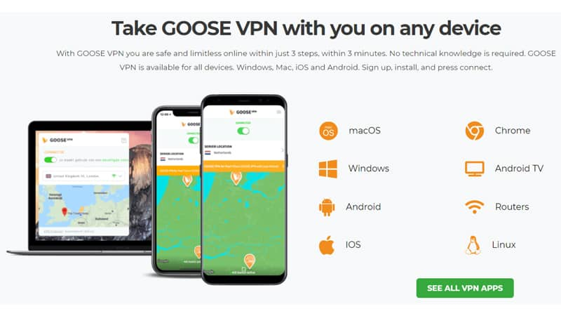 GooseVPN Supported Devices