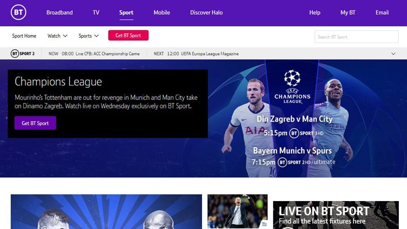 BTSports Watch Premier League Online