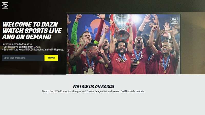 DAZN Watch Premier League Online