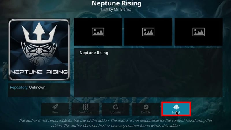 Install Neptune Rising Kodi add-on